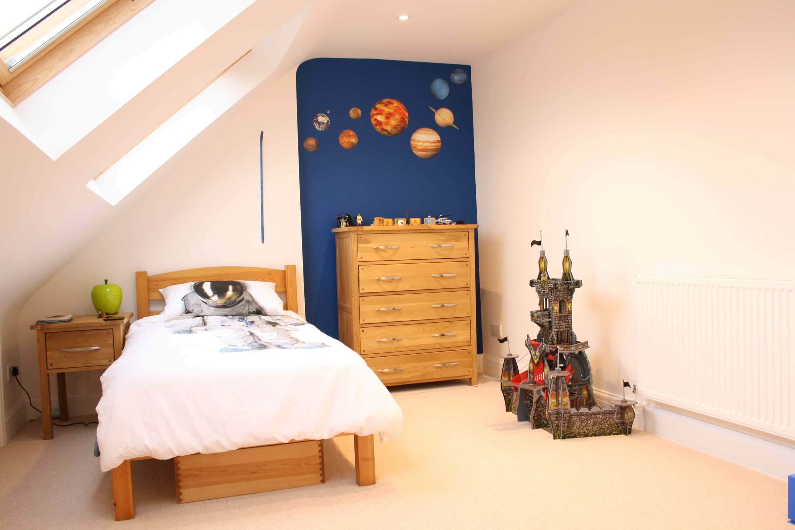 Kids loft conversion shared rooms the pros and cons for Children s bedroom ideas