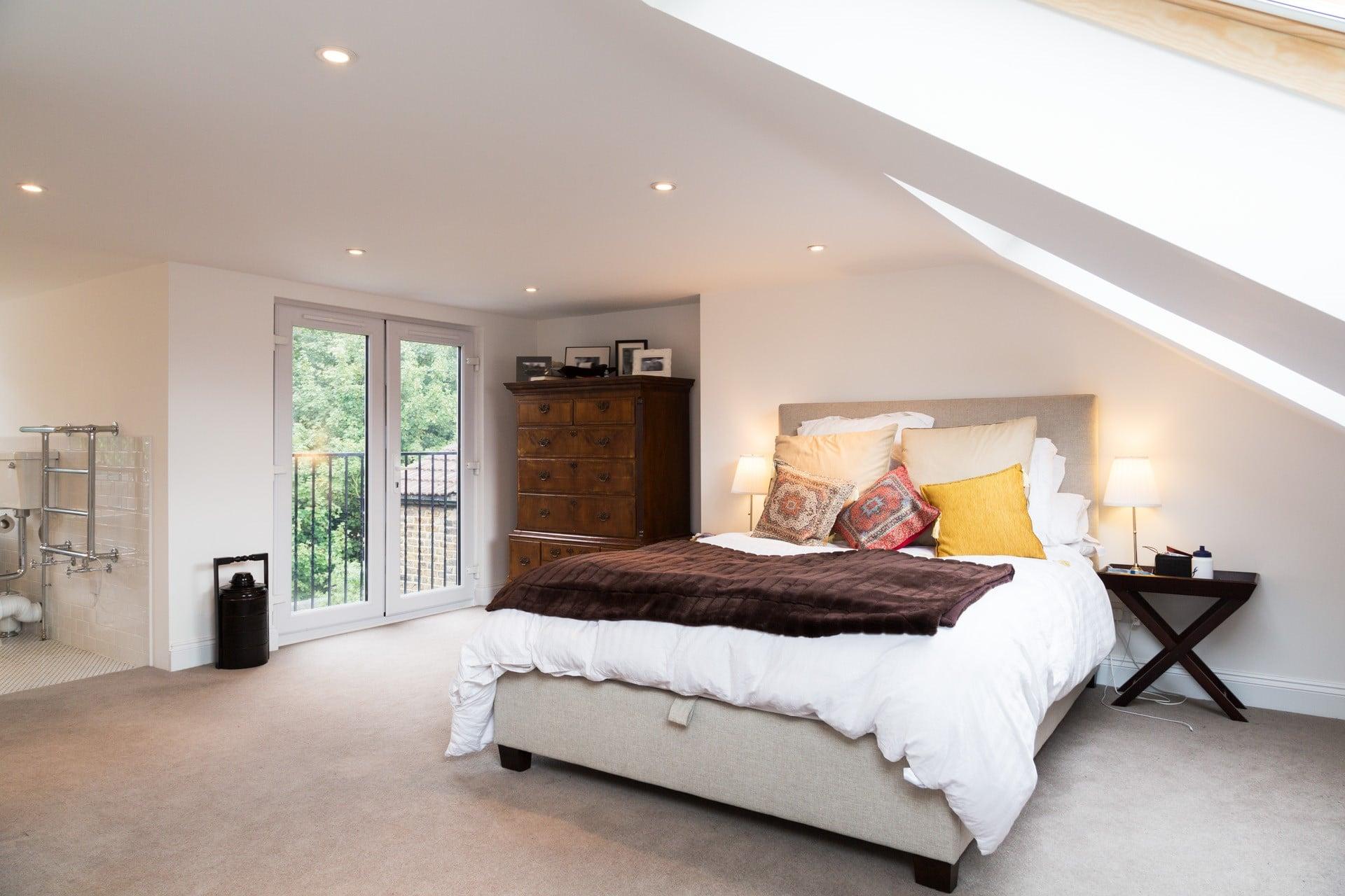 L shaped loft conversion multiple room loft conversion for Bedroom ideas uk