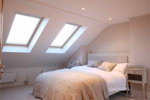 Neutral Loft Bedroom