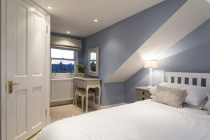 Blue Loft Conversion Bedroom
